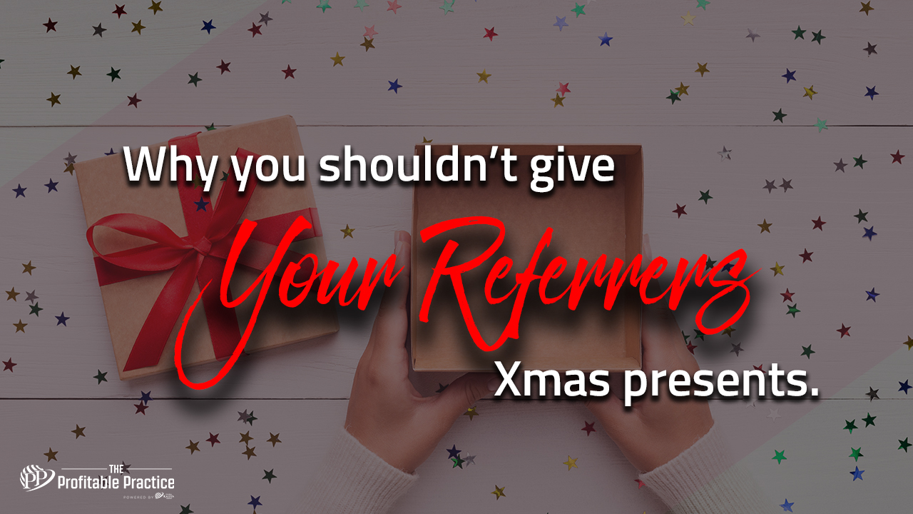 Why you Shouldn't give your referrers Xmas presents