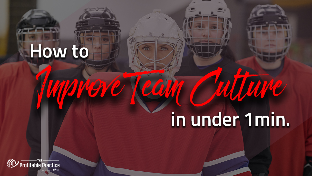 How to improve team culture in under 1min